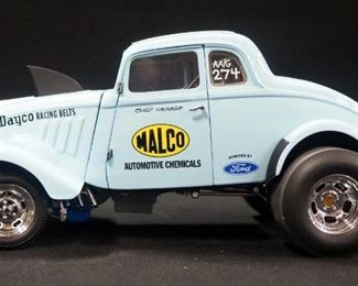 """Precision Miniatures """"Ohio George"""" Montgomery '33 Willys Gasser 1:18 Scale Diecast Special Edition( Circa 1966 Only)"""