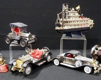 Novelty Radios, Includes Cars, Train, Cannon And Steam Ship