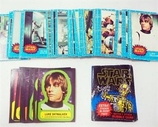 1977 Star Wars Collectors Cards Blue Series, Numbers 1-66 And Collectors Sticker Cards Numbers 1-9 And 11