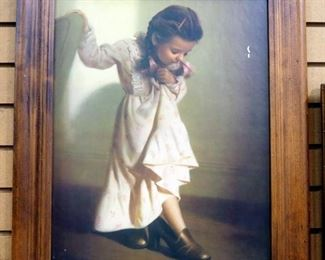 """Two Prints On Board Of Young Girls, Includes Sir Joshua Reynolds' """"Age Of Innocence"""", Both Framed"""