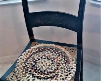Pretty cane seat handpainted chair