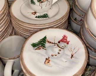 AMERICAN ATELIER CHRISTMAS TWIG DINNERWARE SET