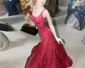 ROYAL DOULTON ANNABEL VISION IN RED HN4493 FIGURINE