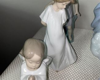 LADDRO ANGEL PRAYING FIGURINE