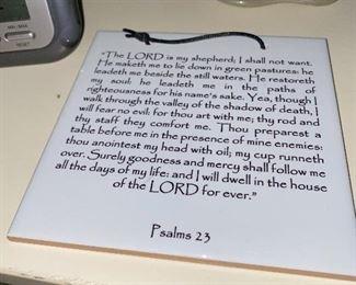 PSALMS 23 WALL ART