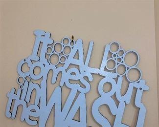 WALL DECOR WASH ROOM