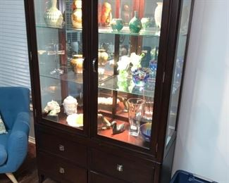 "STEVE SILVER CO. 2 PIECE CHINA CABINET                   78"" H x 48"" W x 19"" D"