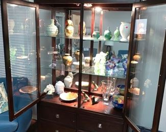 """STEVE SILVER CO. 2 PIECE CHINA CABINET                   78"""" H x 48"""" W x 19"""" D"""