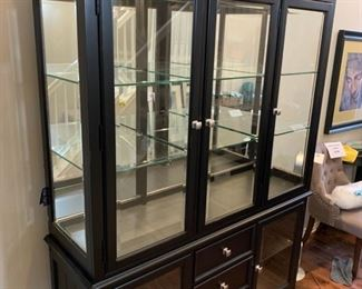 "AMERICAN DREW 2 PIECE CHINA CABINET                 82"" H x 60"" W x 19"" D"