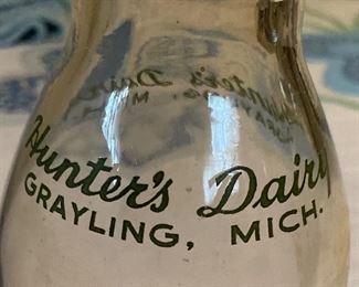 Vintage Michigan dairy milk bottle