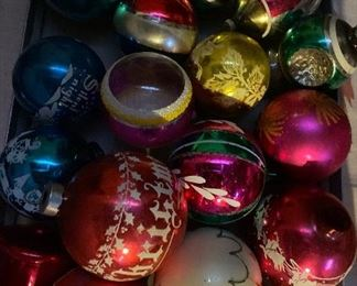 Huge quantities of Shiny Brite and other Christmas ornaments