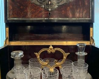 Mid 19th Century French Boulle Counter Top Bar