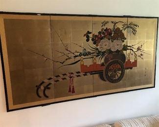 Chinese folding wall screen