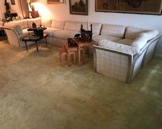 8 Piece Mid Century modular sectional sofa! Pristine condition!