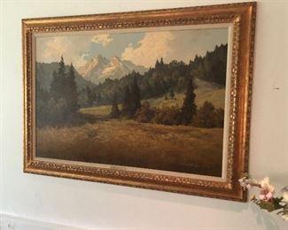 J.H. Thomas early 1900's original Oil landscape