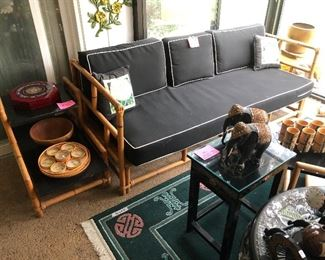 Heywood Wakefield Sofa, end table, coffee table set 1950's