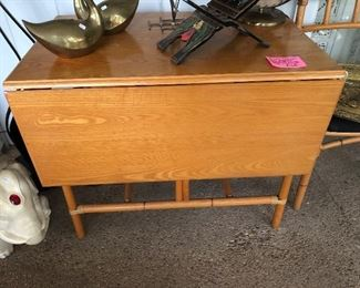 Heywood Wakefield drop leaf dining table with 5 chairs