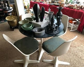 Mid Century dining table with 4 chairs