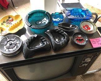 USA, Blenko, Japan vintage ashtrays