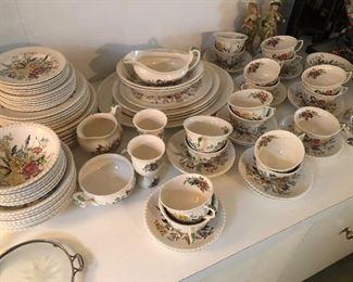 """Johnson Bros """"Windsor Ware"""" Garden Bouquet pattern Antique china"""