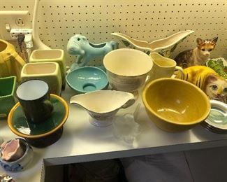 Lots of USA/McCoy pottery
