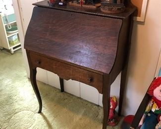 Tiger oak antique secretary desk, late 1800's