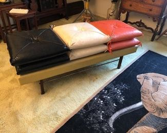 Mid Century bench with cushions