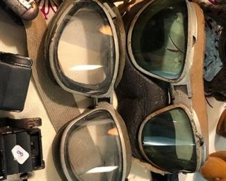 WWII Pilot training goggles