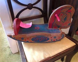 """Spotty"" hobby horse 1950's"