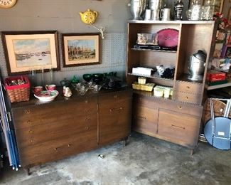 Mid Century Sideboard and China Hutch