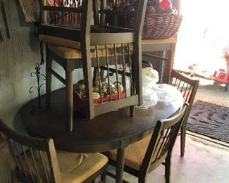 Mid Century Dining table with 6 chairs