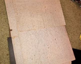 "Civil War-era letter (on large paper! ~20""x14""), written in New Orleans, dated May 3rd, 1862.  Double sided, two sheets."