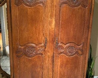 "ANTIQUE WARDROBE IMPORTED FROM PARIS, FRANCE 52"" W x 78"" H x 20"" D"