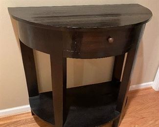 """ANTIQUE HALF MOON HALLWAY TABLE WITH DRAWER FROM PARIS, FRANCE 16.5"""" W x 32"""" L x 33"""" H"""