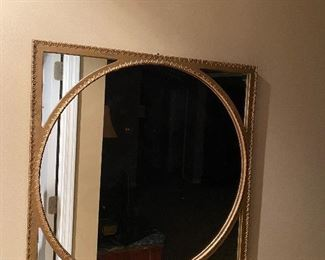 """SQUARE MIRROR WITH CIRCLE 25.25"""" x 25.25"""""""