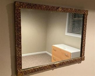 """ANTIQUE GILDED GOLD MIRROR FROM MASSACHUSETTS 30.5"""" x 22.5"""""""