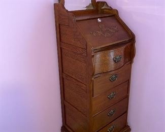 TALL WOODEN CHEST
