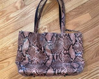 CANDY WOOLLEY PYTHON TOTE