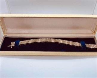 Diamond and Silver Tennis Bracelet