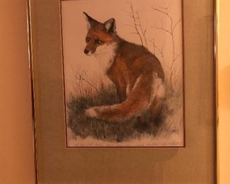 Signed Print Fox