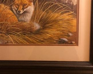 Signed and numbered Watercolor Fox