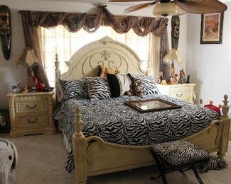 Italian Bedroom Set-Headboard, footboard, chest, end tables
