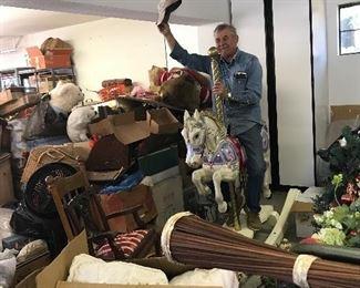 Rocking full-size carousel horse