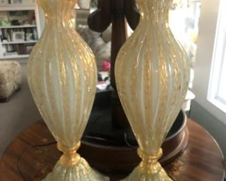 PAIR OF VINTAGE  MURANO LAMPS