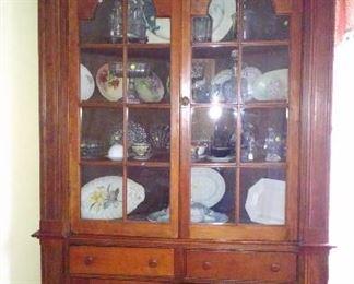 Walnut corner cupboard