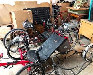 2 recumbant bicycles