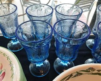 Indiand glass blue recollections goblets