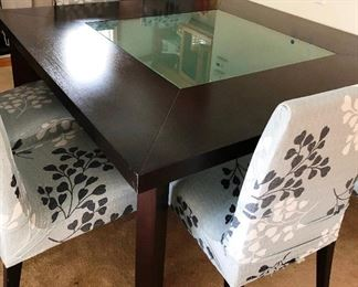 Large table 6 chairs and bench