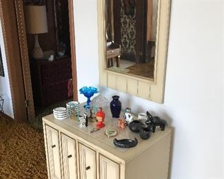 Lovely hall chest with matching mirror!