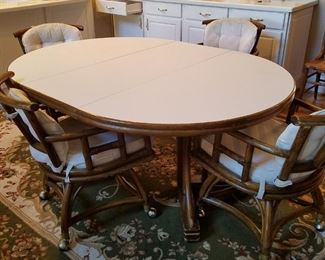 Rattan chairs table